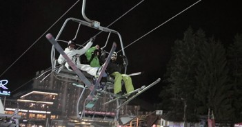Night Skiing Brovets