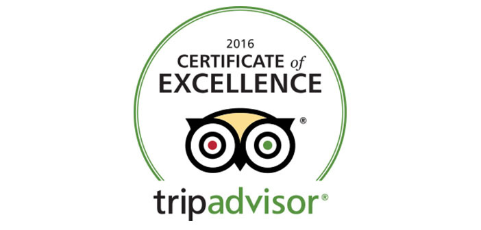 Certificate of Excellence by TripAdvisor for 2016 for Ski & Board Traventuria