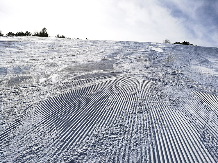 If you want to ski slopes like this, you'd better be up early.