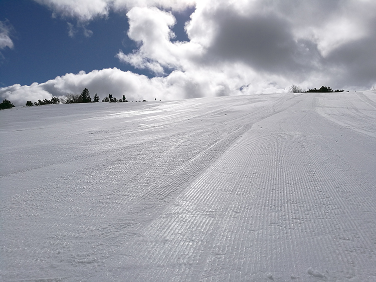 Icy slopes in Yastrebets.