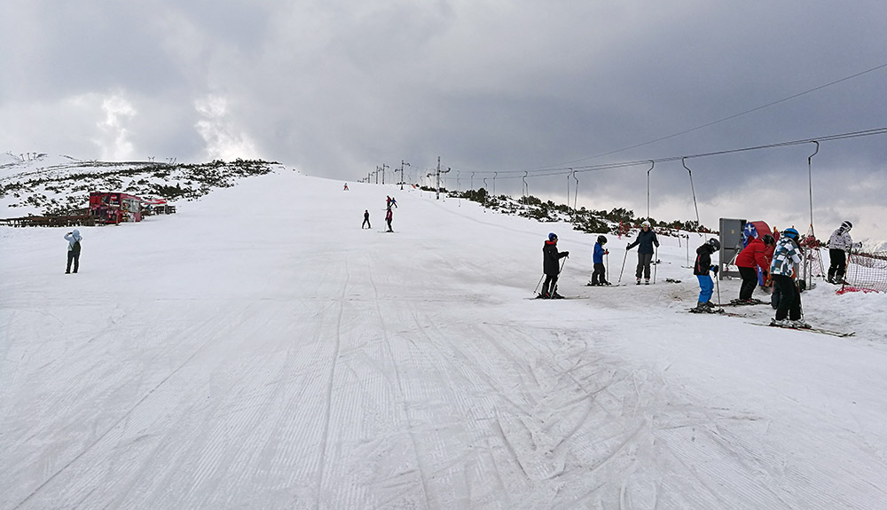 Suhar is the best run for beginners in terms of snow conditions.